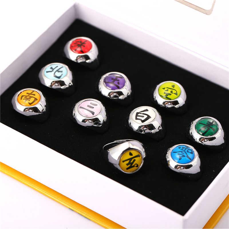 J store аниме мультфильм Наруто регулируемый размер кольцо члена Акацуки косплей ювелирные изделия серебряные кольца из сплава цинка для фанатов JJ11459