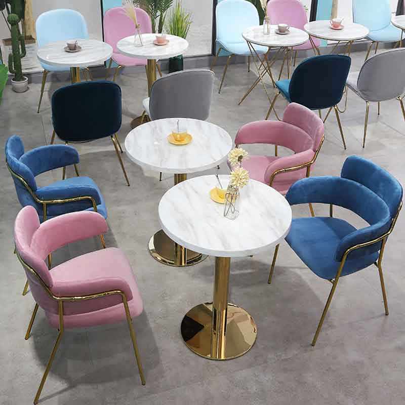 Tea Table And Chair Combination Nordic Dessert Shop Cafe Chair Marble Light Luxury Wind Net Red Series Chair