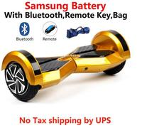 No Tax Hoverboard 8 Inch Self Balancing Scooter LED Light Samsung Battery Electric Skateboard Smart