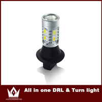 Night Lord 1pcs Only For Replace Yellow Color LED DRL Daytime Running Lights Front Turn Signals