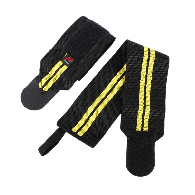 Aolikes 1Pair Wrist Thumb Brace Support Gym Weight Lifting Strap Wrap Wristband