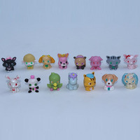 Pet animals Large collection random mixed PVC Action Figure Collectible Toy 100pcs/lot Free Shipping