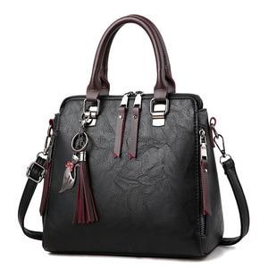 Vintage Leather Ladies HandBags Women Messenger Bags TotesTassel Designer Crossbody Shoulder Bag Boston Hand Bags Hot Sale