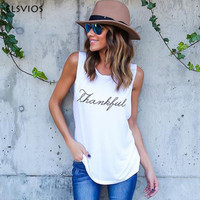 New Summer Sexy Casual Letter Printed T Shirts Tops European And American Sleeveless Letter Printed Vest