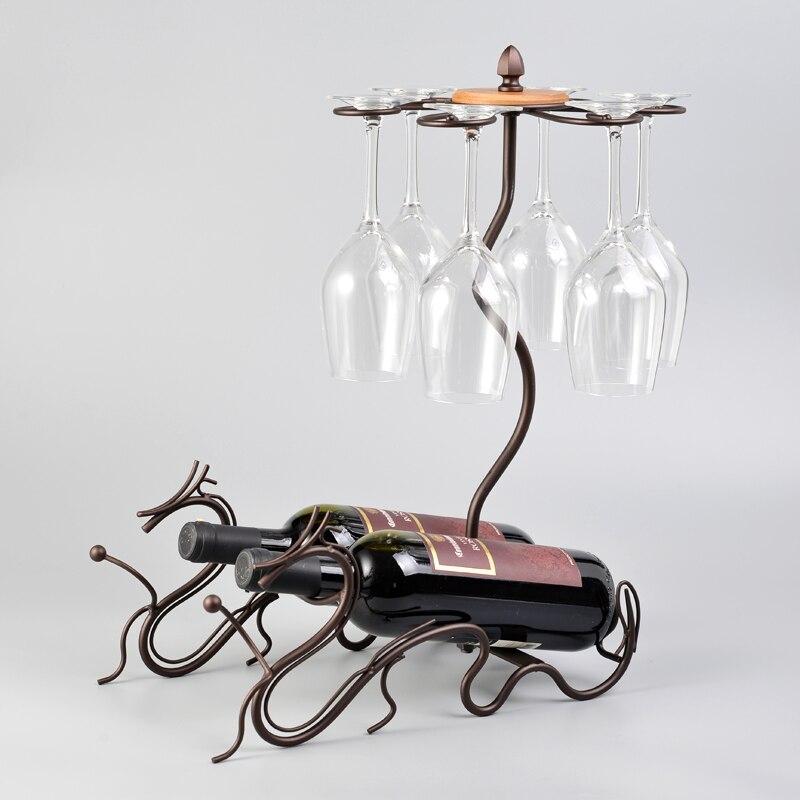 Cadre de vin créatif Style Dragon Unique support de verre à vin domestique supports à vin support de bouteille de vin suspendu