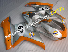 Hot Sales,Gulf Aftermarket For Ducati 1098 848 1198 2007-2011 abs Fairing Motorcycle ABS Plastics Body Kits (Injection molding)