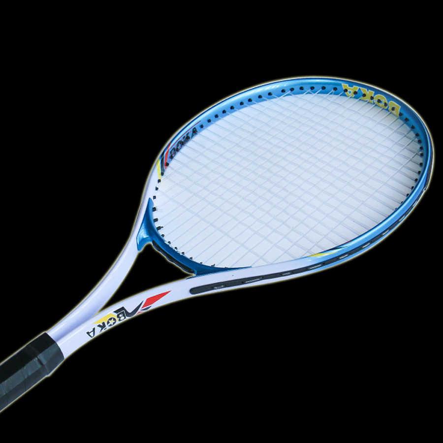 Carbon Aluminum Alloy Fiber Tennis Racket Racquets Equipped with Bag Tennis Grip Racchetta Da Tennis Rackets Sports for Matches