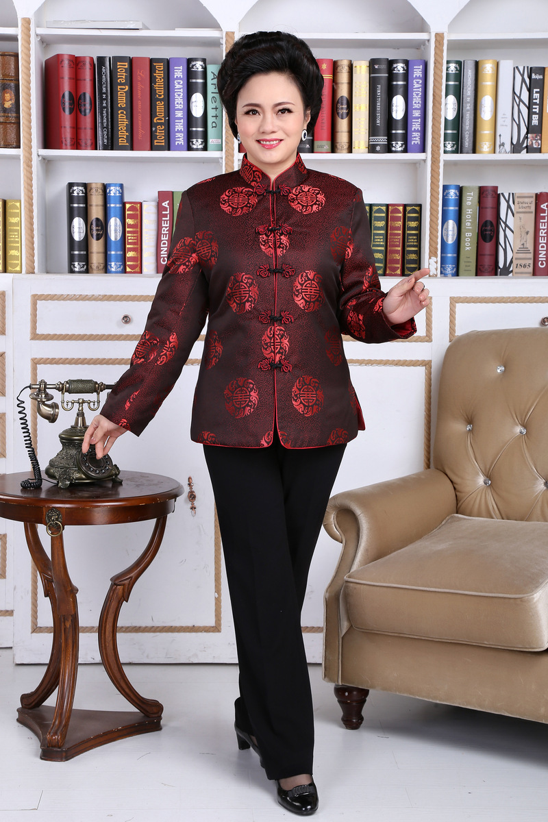 Chinese Traditional Coat Women 39 s Satin Winter Jacket Size M to 3XL in Tops from Novelty amp Special Use