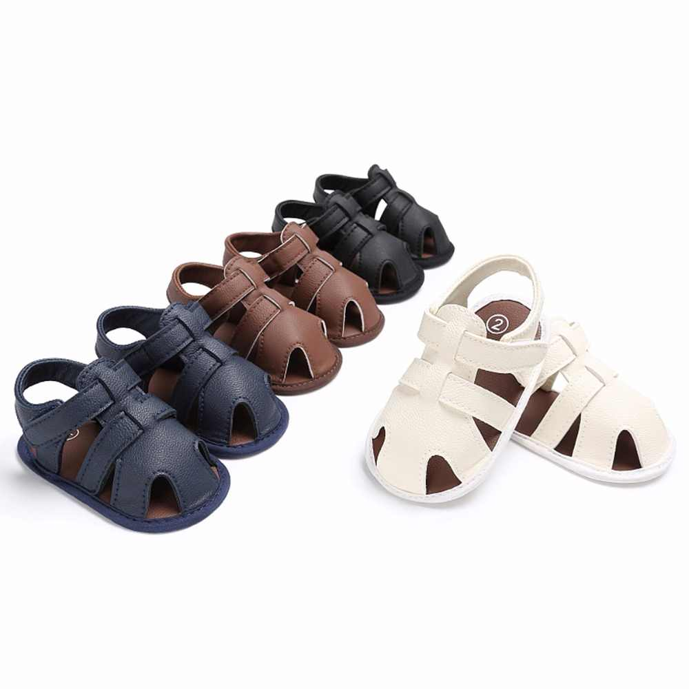 Puseky Summer Baby Boys Shoes Soft Toddle Boy Sandals Leather Breathable Hollow Out Baby Slippers Prewalker Sandal Shoes Beach