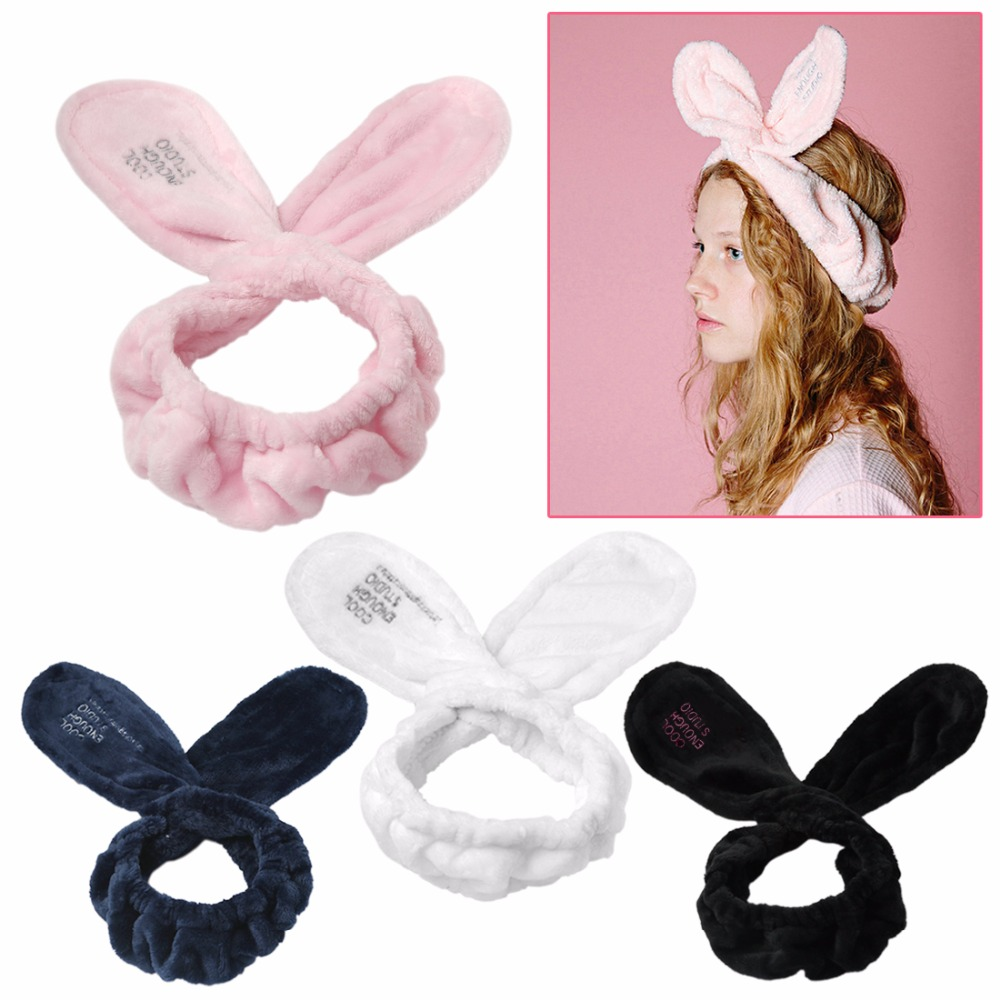 Dutiful 1 Pc Big Rabbit Ear Soft Towel Hair Band Wrap Headband For Bath Spa Make Up Women Girls Headwear