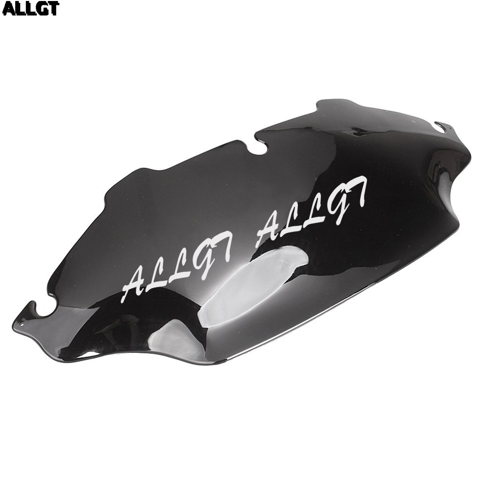 ALLGT Smoke Windshield Wind Deflector For Harley Electra Street Glide FLHX FLHT Touring 1996-2013 pair air deflector windshield side wings dark tint smoke for harley electra glide road kingstreet glide motorcycle