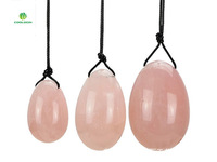 Natural Rose Quartz Crystal Eggs Crystal Yoni Egg For Women Health Care Kegel Exercise Massager Sexy