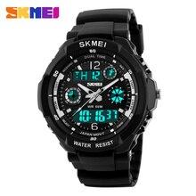 Skmei Top marka luksusowe mężczyźni zegarki sportowe cyfrowe analogowe wojskowe LED elektroniczne zegarki kwarcowe człowiek zegar Relogio Masculino