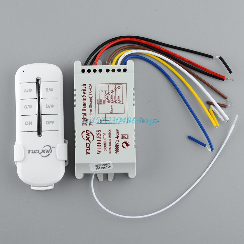 Wireless Receiver Lamp Light Remote Control Switch 4 Ways ON OFF 220V  H028 Compare Prices on Remote Control Light Switch Outdoor  Online  . Remote Control Outdoor Light Switch 1 Gang. Home Design Ideas