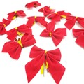 12 Pieces Red Small Bow Christmas Ornaments Christmas Tree Decorative Ornaments Supplies Creative Funny Novelty Toys