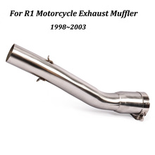 For Yamaha R1 Motorcycle Exhaust Muffler Modified Connection Middle Stainless steel Link Pipe Slip on 1998-2003 Moto Accessories цена в Москве и Питере