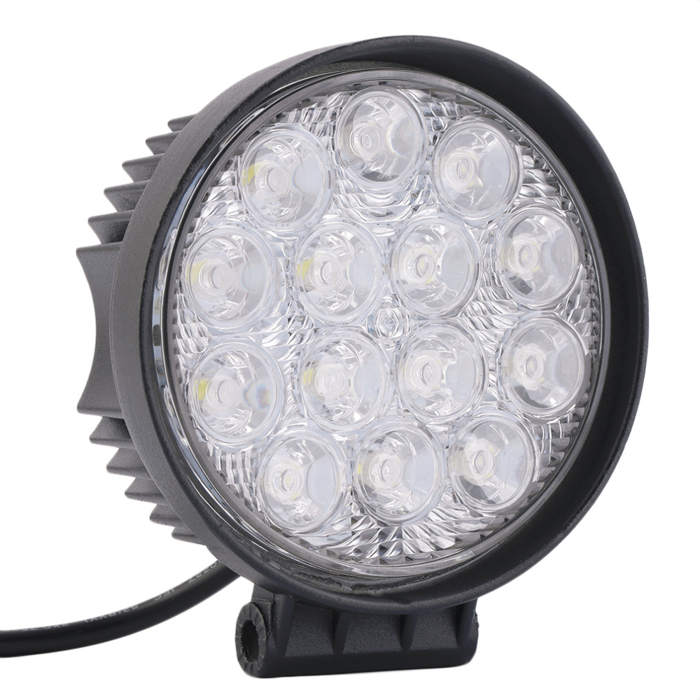 Waterproof 42W Off Road Spot Light Round LED Work Light LED Spot Lamp for Car Truck Vehicle ATV Boat hot selling