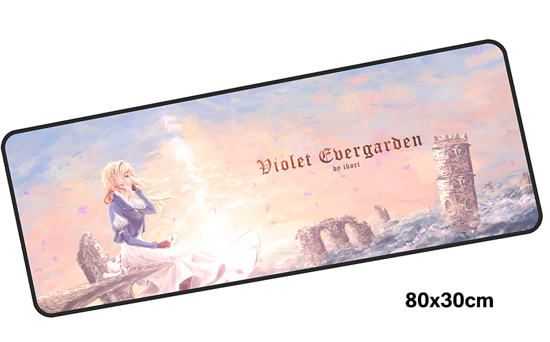 violet evergarden mousepad gamer 800x300X3MM gaming mouse pad Professional notebook pc accessories laptop padmouse ergonomic mat