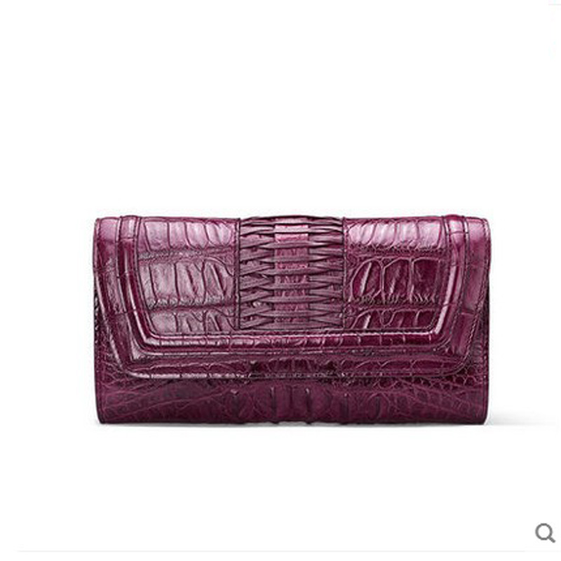 2018 gete  new crocodile skin women clutch bag lady Thai leather fashion hand bag dinner bag crocodile skin Ms package gete new python leather women handbag lady real snake dinner women purse large capacity grab bag girl women cluth bag wallet