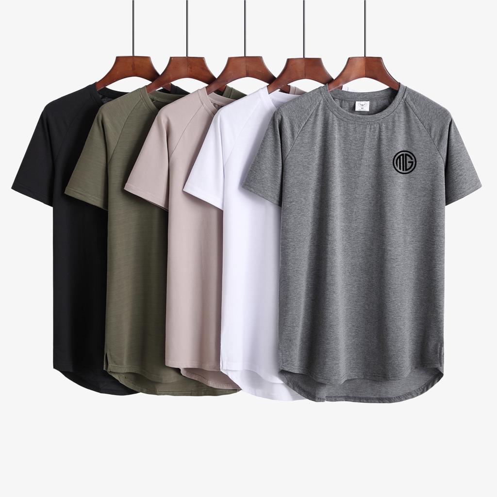 Marca academias roupas estender hip hop rua T-shirt Dos Homens camisa de fitness musculação silm camisas fit t homens verão Slim fit top Tees