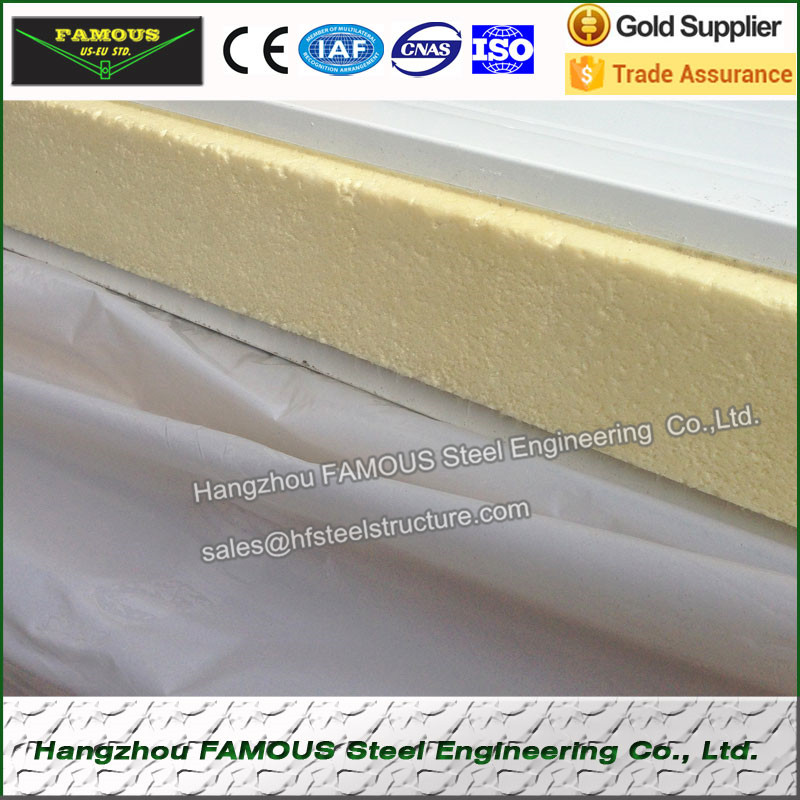 Stainless Steel Cool Storage Room Sandwich Panel For Heat Insulation