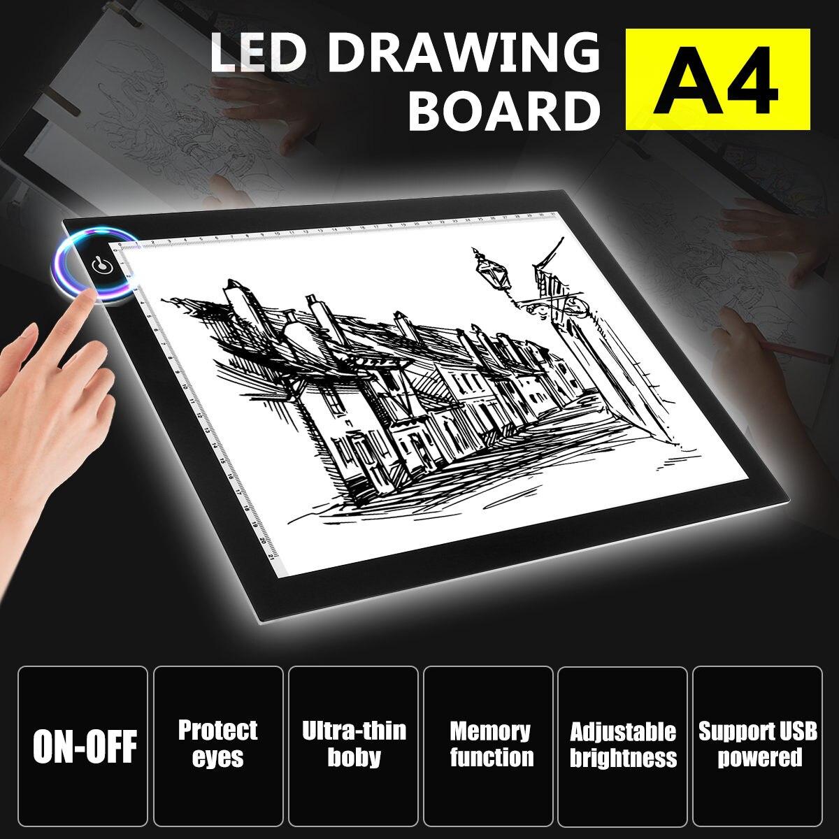 17.7 pouces professionnel graphique dessin tablette mince 5mm boîte à lumière LED USB traçage conseil Pad planche à dessin stylo tablette Art Pad USB