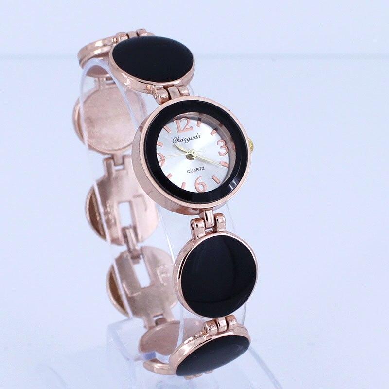 Women Watch Ladies Nobler Fashion 5 Colors Casual Wafer Design Round Dial Bracelet Watch Mujor Quartz Wristwatch Female Relojes
