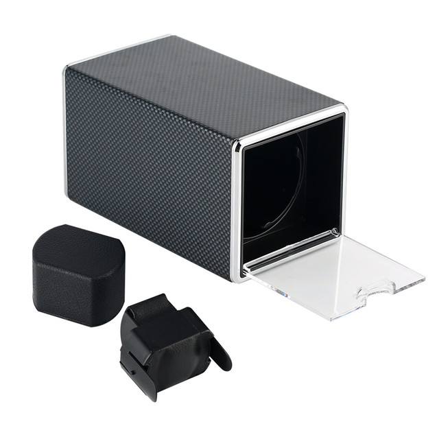 1+0 Watch Winders Storage Motor Box Mechanical Self-Wind Watch Winding Boxes Luxury Watch Shaker with USB Cable | Watch Boxes