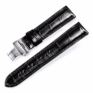 Image 1 - Howk Watchband 18mm 19mm 20mm 21mm 22mm 23mm 24mm Leather Watch Band Alligator Watch Strap With Butterfly Buckle