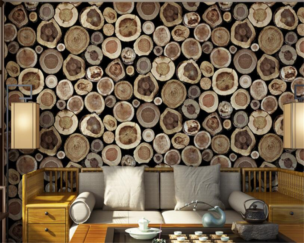Beibehang papier peint pour murs 3 d style chinois grain de bois étanche papier peint restaurant café magasin fond papel de parede