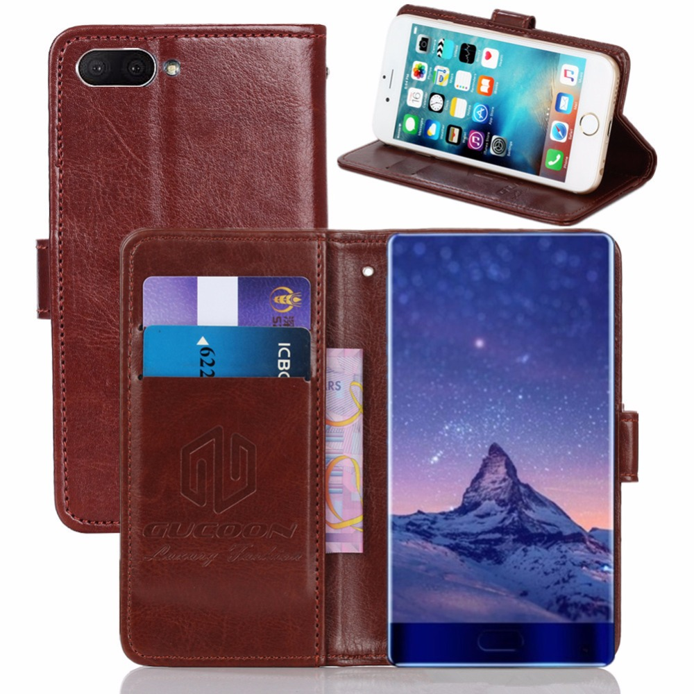 GUCOON Vintage Wallet Case for Doogee Mix 5.5inch PU Leather Retro Flip Cover Magnetic Fashion Cases Kickstand Strap