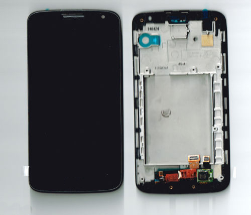A LCD Display Digitizer Touch Screen Glass + Front Frame For LG G2 mini D618 D620 D621 D625 Repair Part free shipping