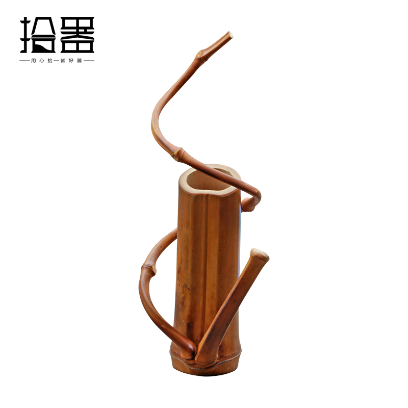 Japanese bamboo floor vase handmade tabletop flower vase storage japanese bamboo floor vase handmade tabletop flower vase storage fashion wedding home decoration accessories gift crafts basket in coffee tea sets from junglespirit Images