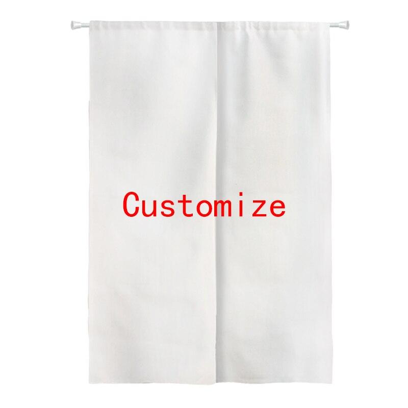 Custom Print Sublimation Digital Printing Heat Transfer Door Curtain Two Craps Noren Doorway Room Divider