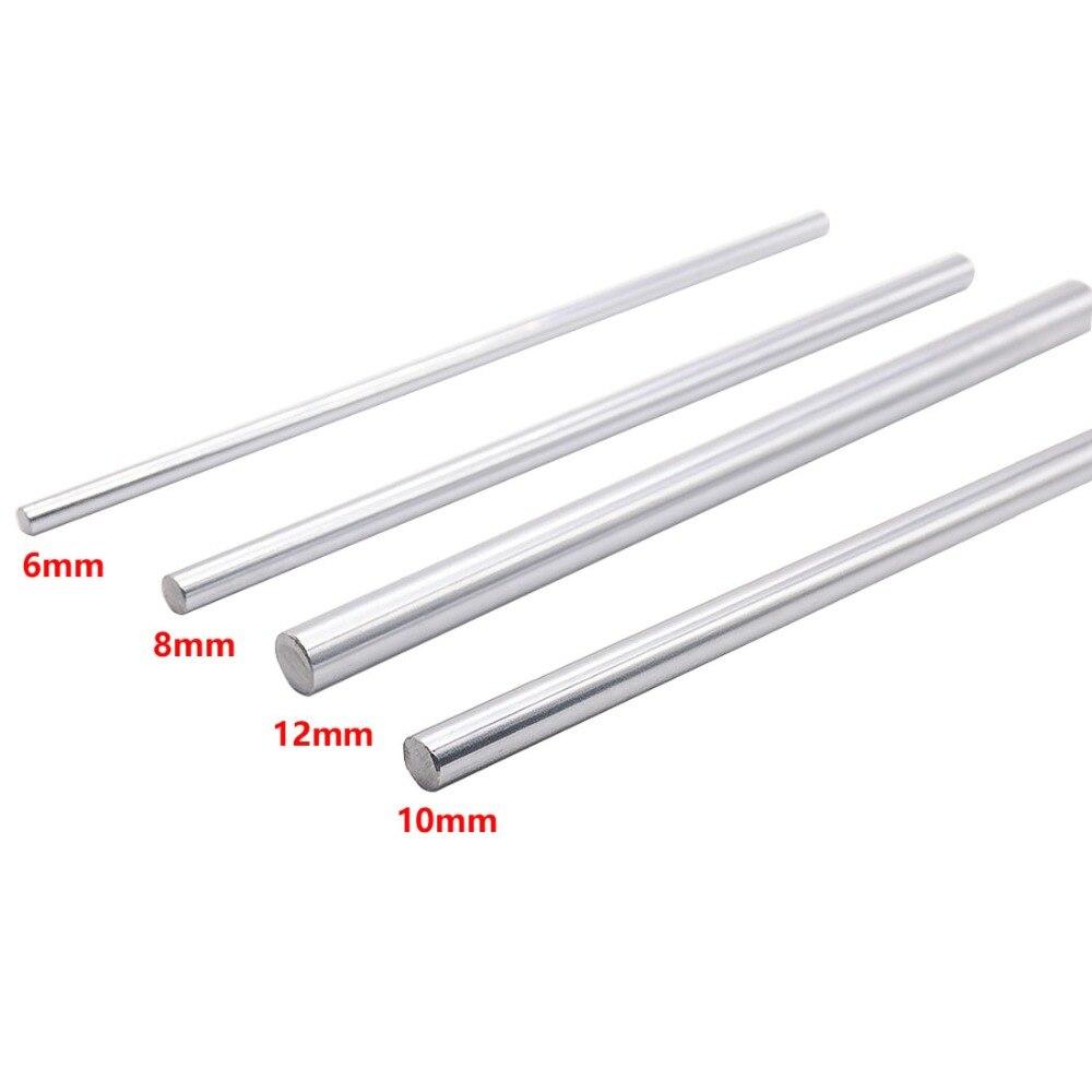 1pc 6mm 8mm 10mm 12mm 16mm lineare welle L 100 150 200 250 300 350 400 500 600 700mm verchromte linear schiene runde stange für 3d drucker