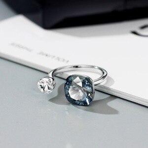 Image 4 - NeogloryคริสตัลและRhinestoneแหวนคู่สีสำหรับผู้หญิงคลาสสิกประดับด้วยคริสตัลจากSwarovski