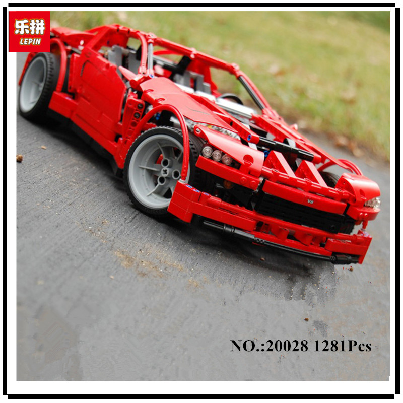 IN STOCK LEPIN 20028 1281PCS Technic series Super Car assembly toy car model DIY brick building block toy gift for boy gift 8070 lepin 20028 technic series super car assembly toy car model building block 1281pcs bricks toys gift for gift 8070