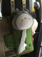 Cute 1pc 24cm cartoon totoro grassland plush paper towel case Vehicle hanging tissue box creative stuffed toy creative gift