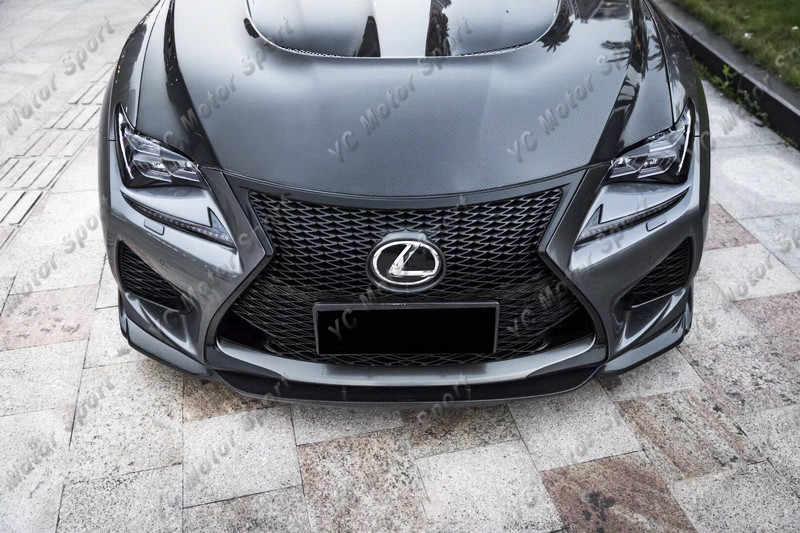 Aksesoris Mobil Serat Karbon AG Gaya Bibir Depan Cocok untuk 2014-2017 RC F Sport Bumper Depan Splitter Bibir