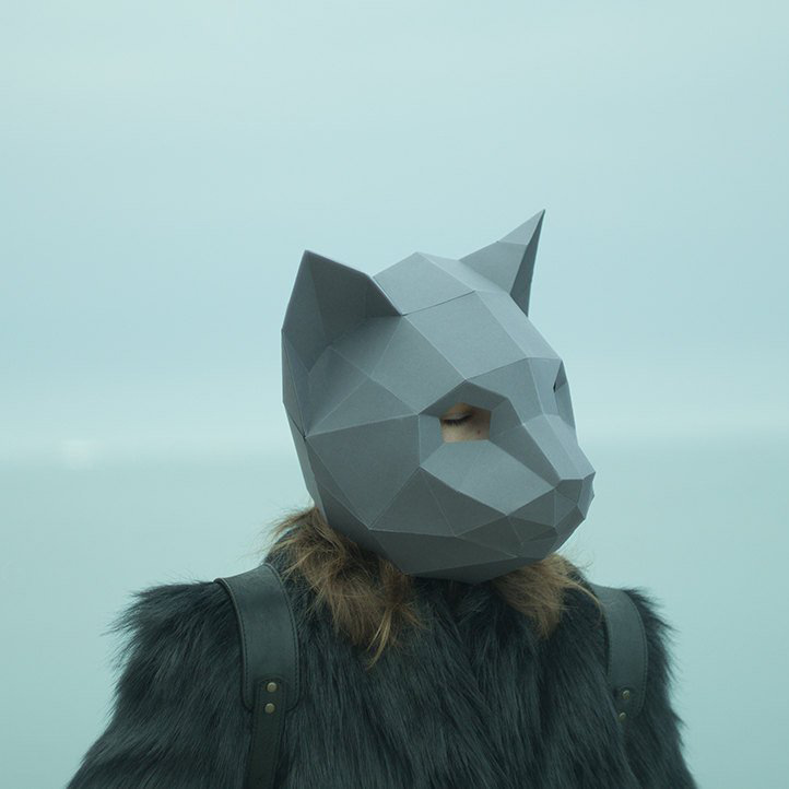 Cat DIY Mask Cosplay Christmas Costume  Adult Children Cardboard Breathable Halloween Ricky Funny Masks