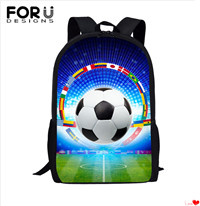 FORUDESIGNS-New-Kindergarten-16-Inch-School-Bags-Football-Flag-Print-School-Bag-Men-Backpack-for-Teen