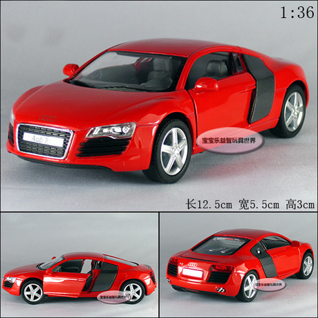 Candice guo! Scorching sale Tremendous cool 1:36 mini Audi R8 sports activities automobile alloy mannequin automobile toy automobile youngsters grownup birthday reward 1pc