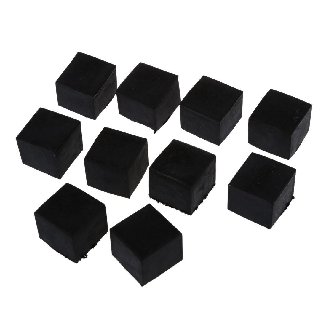 10 Pcs Black Rubber 25mm x 25mm Furniture Chair Legs Covers Protectors