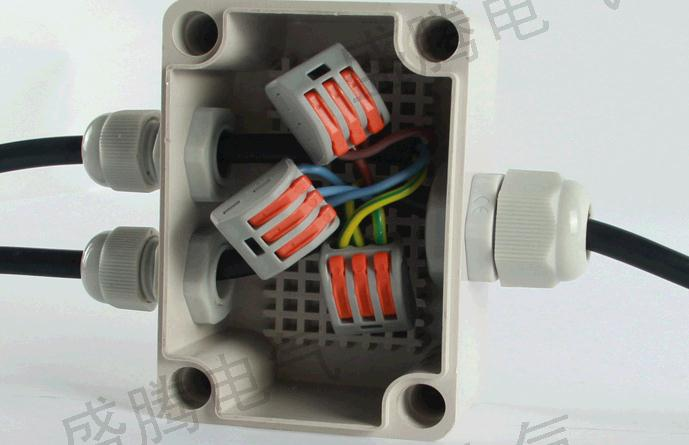 1 in 2 out waterproof junction box with terminal power supply box box of pv junction box wire connector   65*95*55 abs terminal box junction box terminal diy speaker accessories loudspeaker wire terminal large circle and crystal column