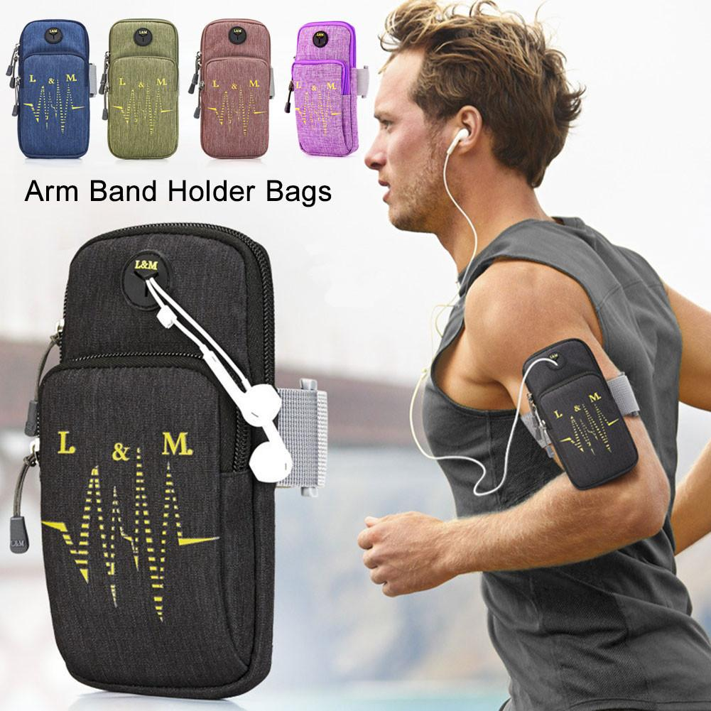 sale retailer f3075 023a3 US $3.26 15% OFF|Sport Running Fitness Bag Case Cover Jogging Gym Mobile  Phone Armband Arm Holder Bag For IPhone 7/8 Plus Outdoor Sport Arm Pouch-in  ...
