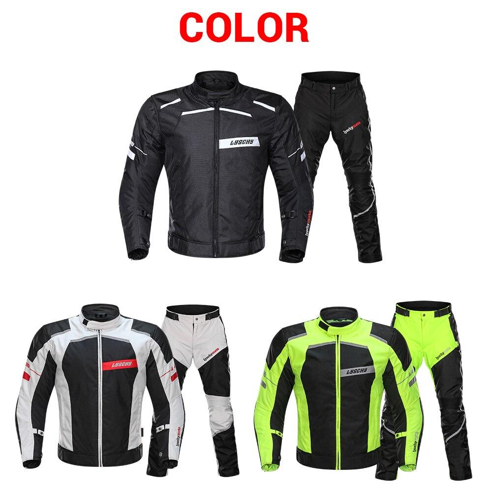 LYSCHY veste de Moto équitation été hiver Detechable imperméable respirant maille veste Moto pantalon costume Moto équipement de protection - 6