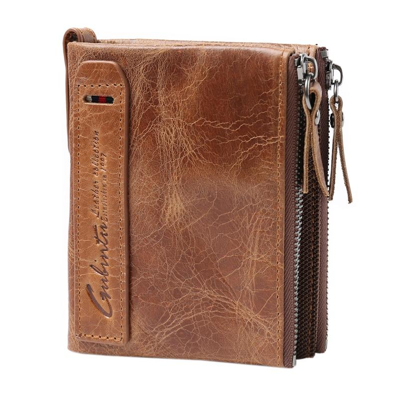 GUBINTU Men Wallet Short Coin Purse Small Vintage Wallets