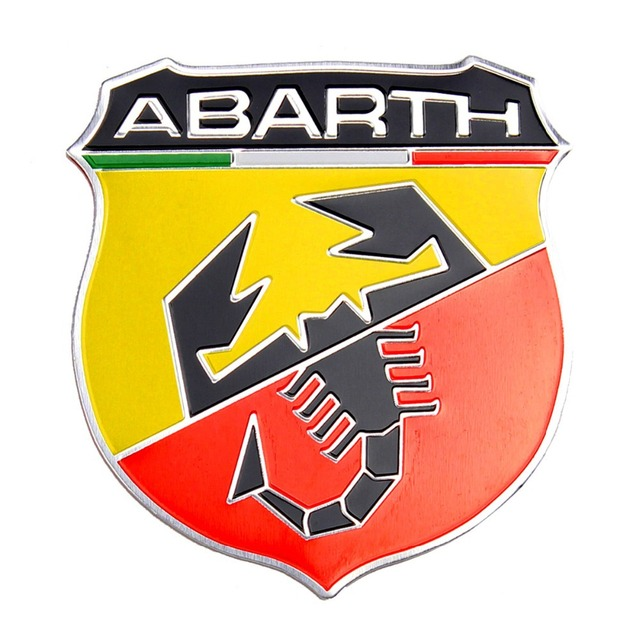 Universal Car Decoration Metal Abarth Style 3D Emblem Badge Adhesive Decal large