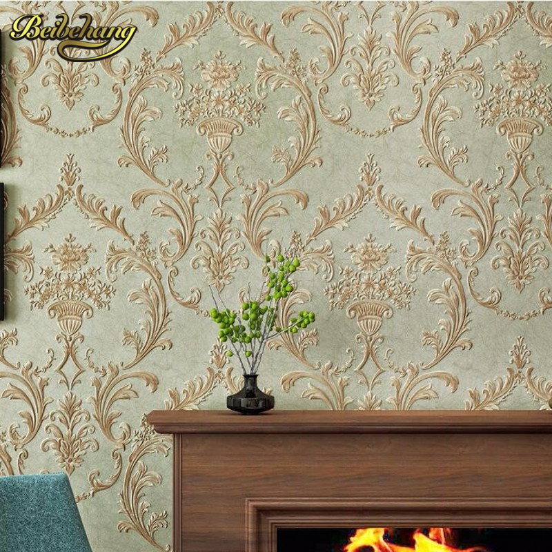 beibehang wall covering three - dimensional non - woven Pastoral European bedroom living room TV background wall paper beibehang pastoral wall paper bedroom