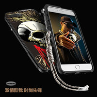 Cool Fanshion 3D Stereo Relief Skeleton Skull Patterned Aluminum Metal Bumper Frame Cover For Iphone 6